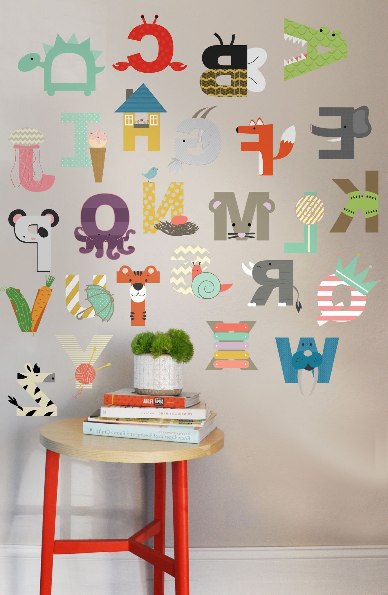 Pinterest Within Alphabet Wall Art (View 14 of 15)