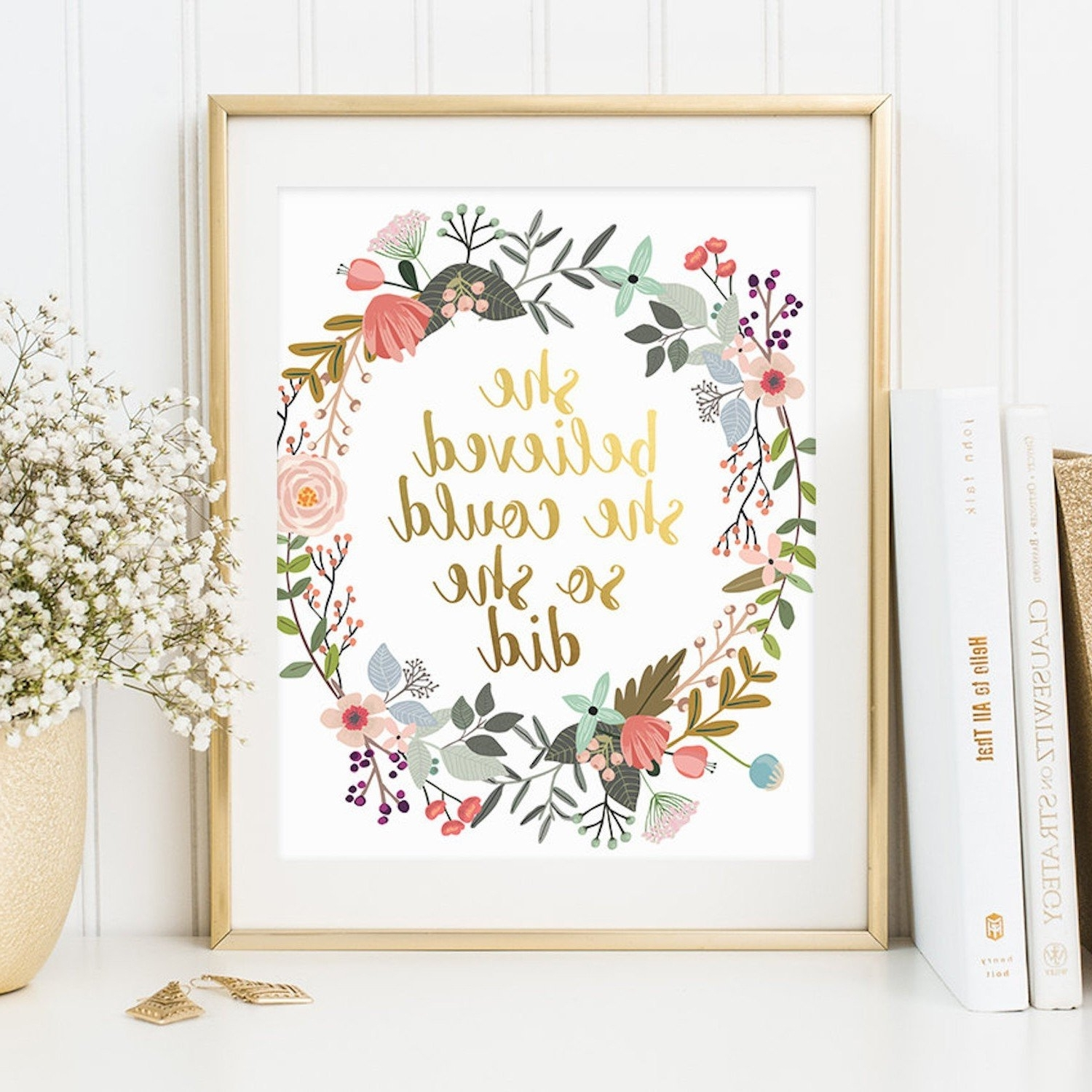 Popsugar Moms Pertaining To Quote Wall Art (View 14 of 15)