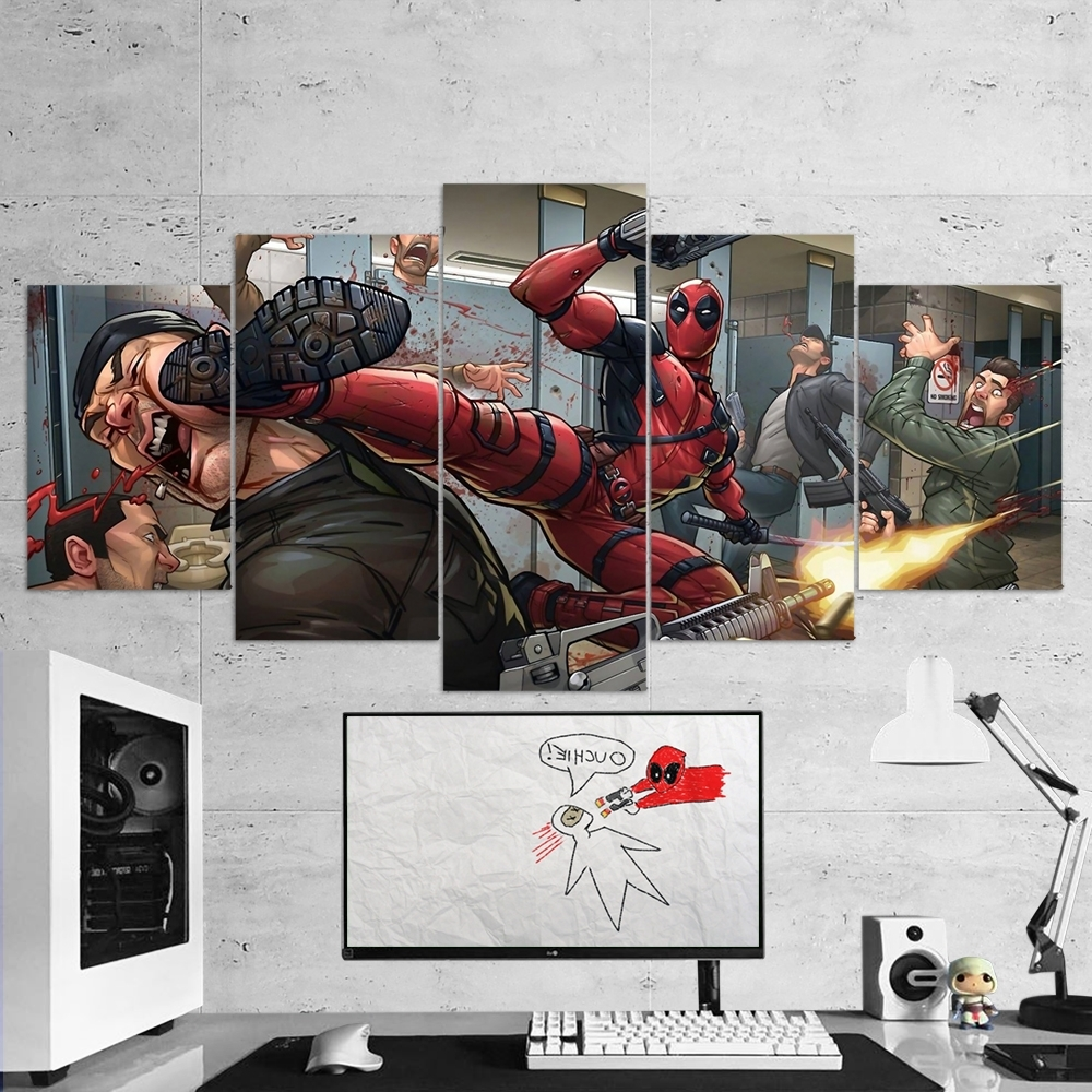 Popular 5 Piece Wall Art Canvas With Deadpool 15 – 5 Piece Canvas Wall Art Gaming Canvas – Game Wall Art (View 13 of 15)