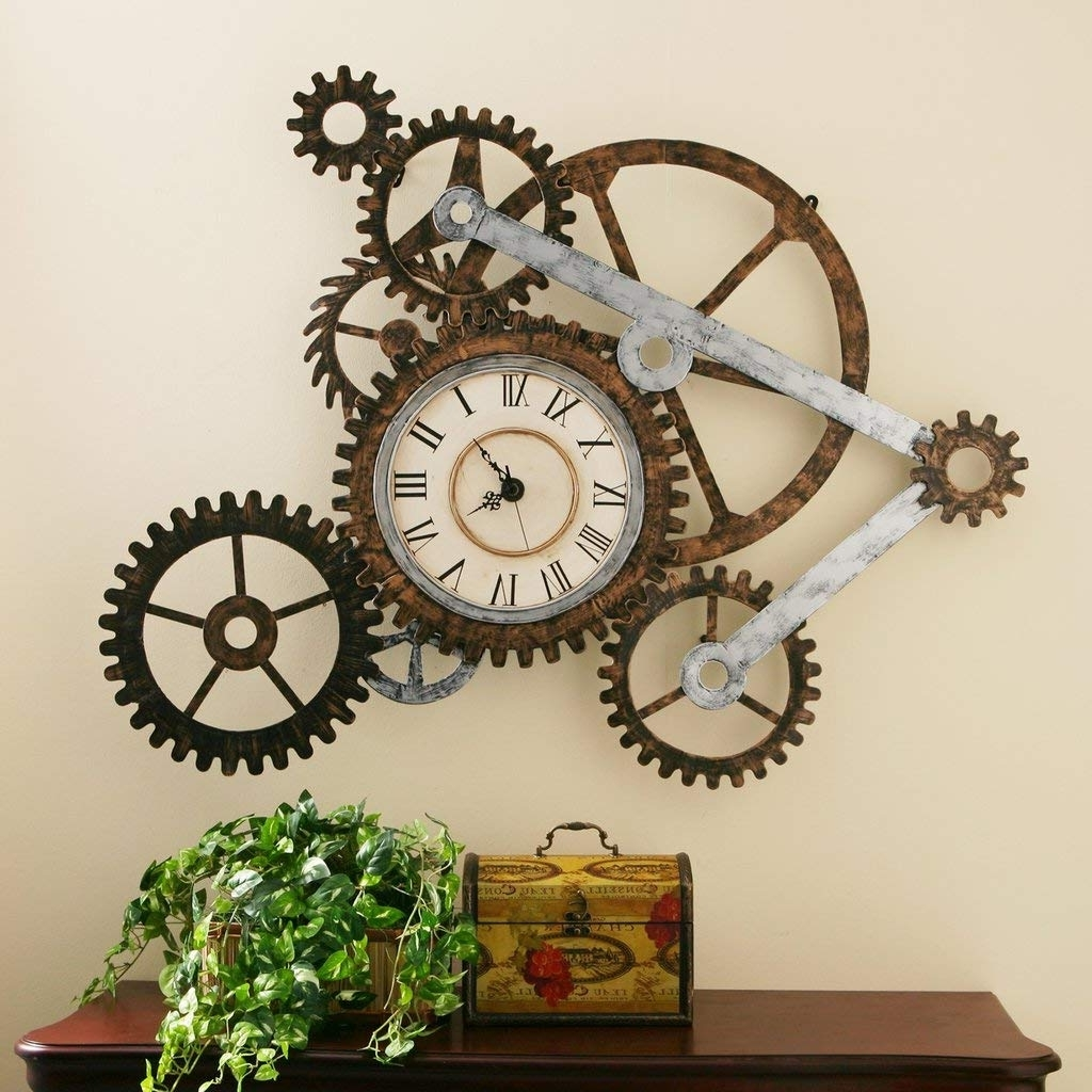 Popular Amazon: Steampunk Wall Art With Clock: Home & Kitchen With Steampunk Wall Art (View 14 of 15)