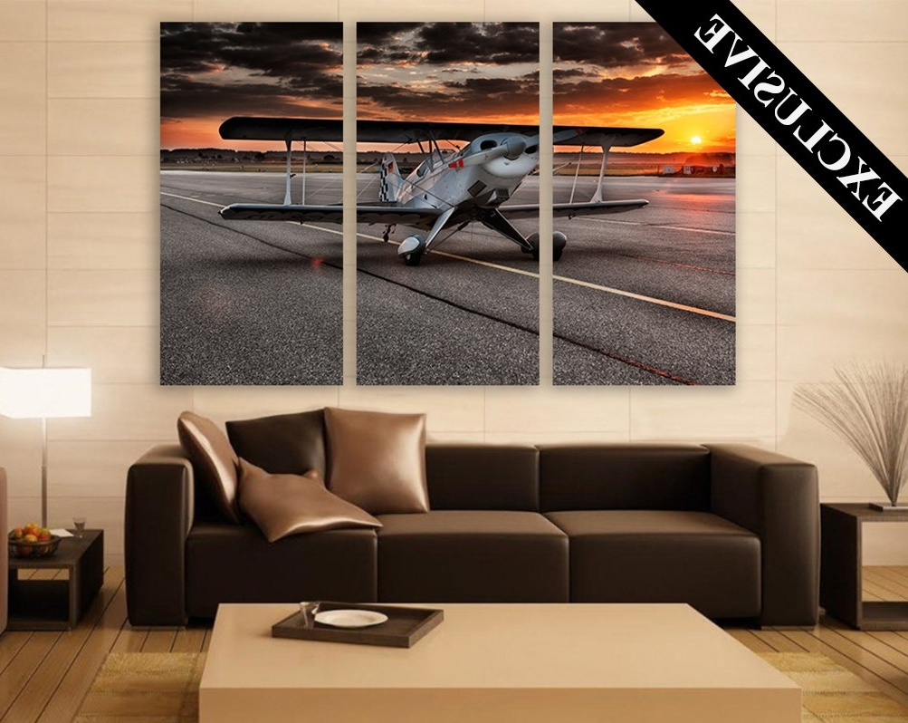 Popular Aviation Wall Art Intended For Large Aviation Wall Art – Elitflat (View 13 of 15)
