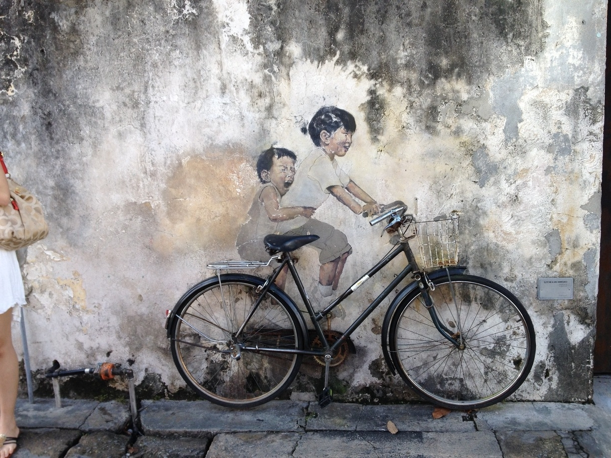 Popular Bicycle Wall Art Intended For Wall Art Kids On Bicycle, George Town, Malaysia – Magnificent Wall (View 10 of 15)