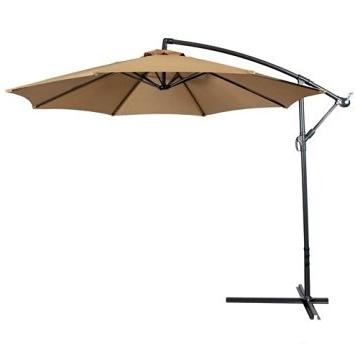 Popular Buy Patio Furniture Patio Umbrella Offset 10' Hanging Umbrella Throughout Hanging Offset Patio Umbrellas (View 6 of 15)
