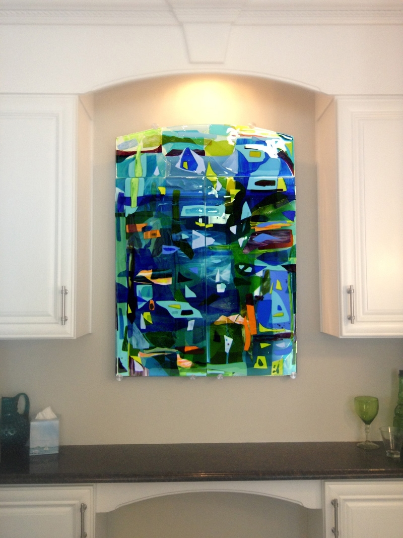 Popular Colorful Fused Glass Wall Art Panel (View 13 of 15)