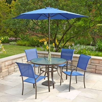 Popular Decorating : Patio Chair With Umbrella Patio Table And Chair Sets Inside Patio Sets With Umbrellas (View 12 of 15)