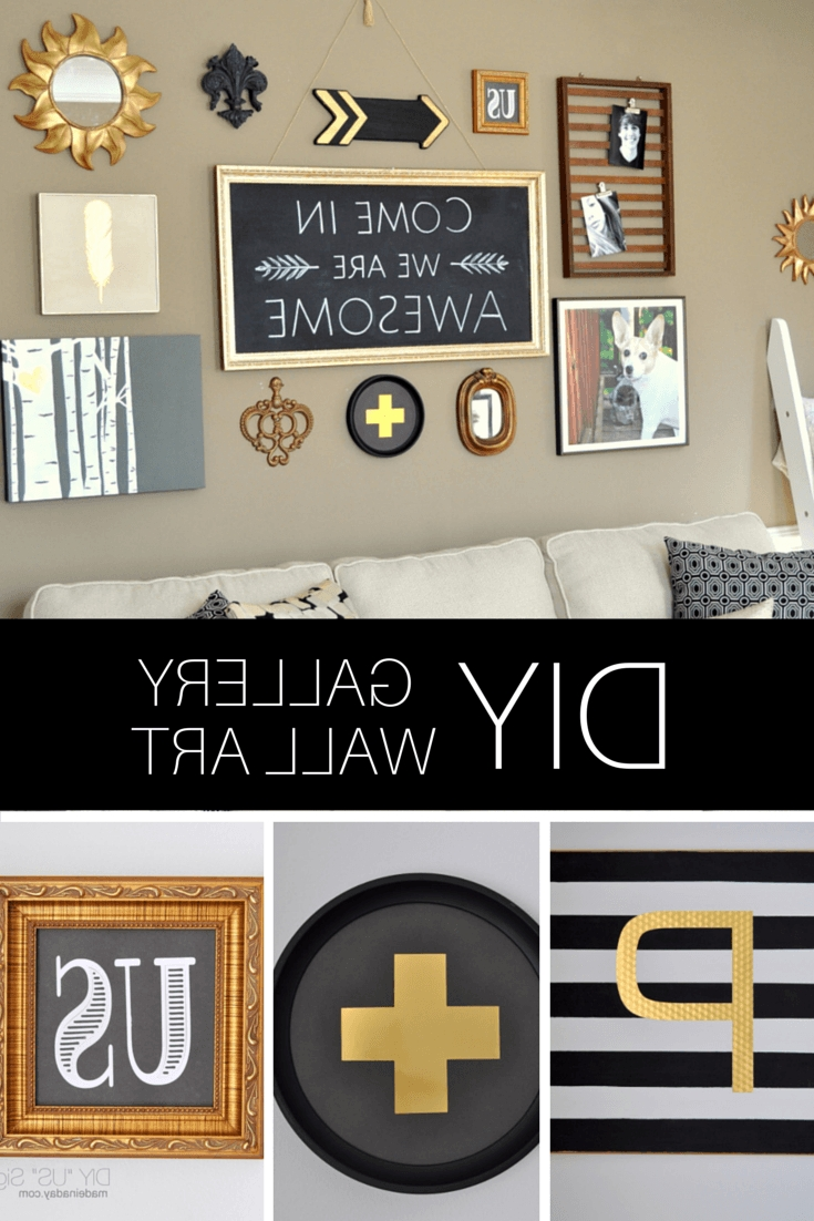 Popular Diy Black Gold Gallery Wall Inside Black And Gold Wall Art (View 7 of 15)