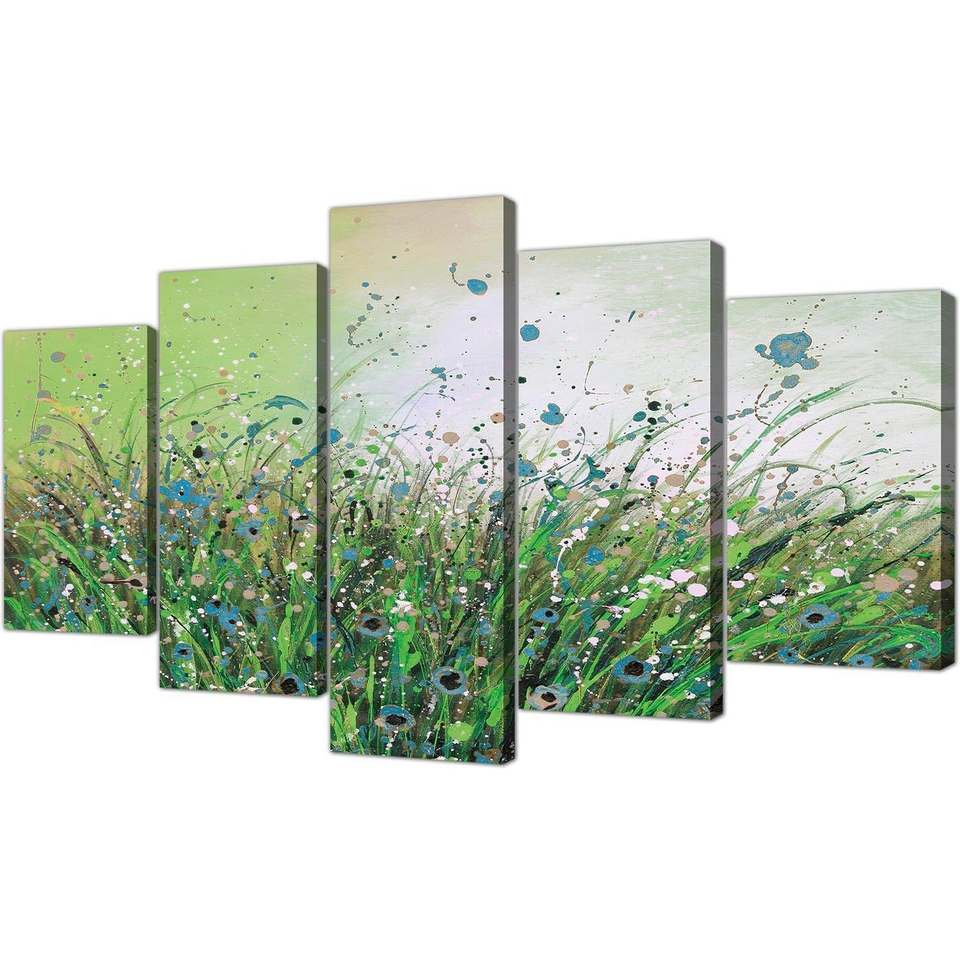 Popular Extra Large Floral Abstract Canvas Wall Art In Green With Large Canvas Wall Art (View 2 of 15)