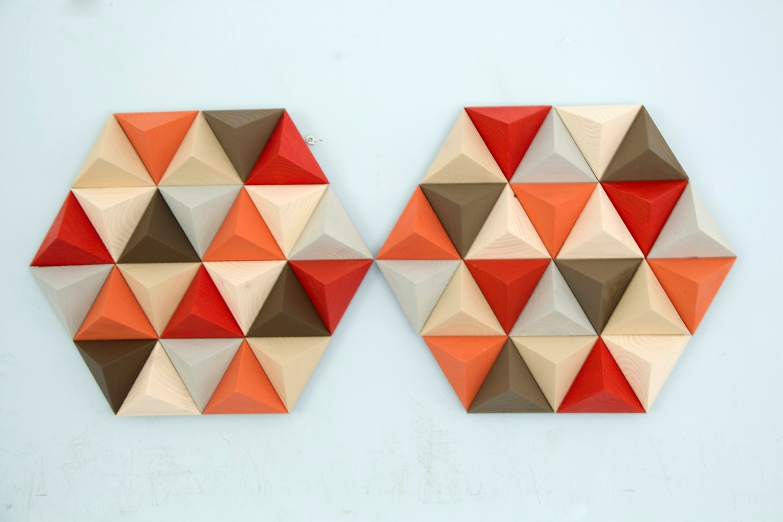 Popular Geometric Wall Art For Wood Wall Art Geometric, Hexagon, Mid Century Wall Art, Sale Unique (View 11 of 15)
