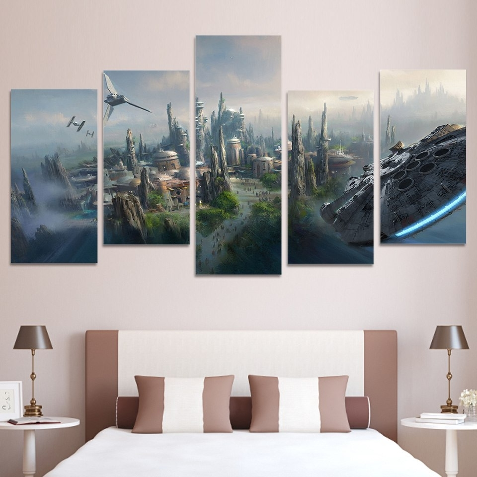 Popular Hd Printed 5 Piece Canvas Art Movie Poster Wars Large Canvas Wall Pertaining To Large Canvas Wall Art (View 4 of 15)