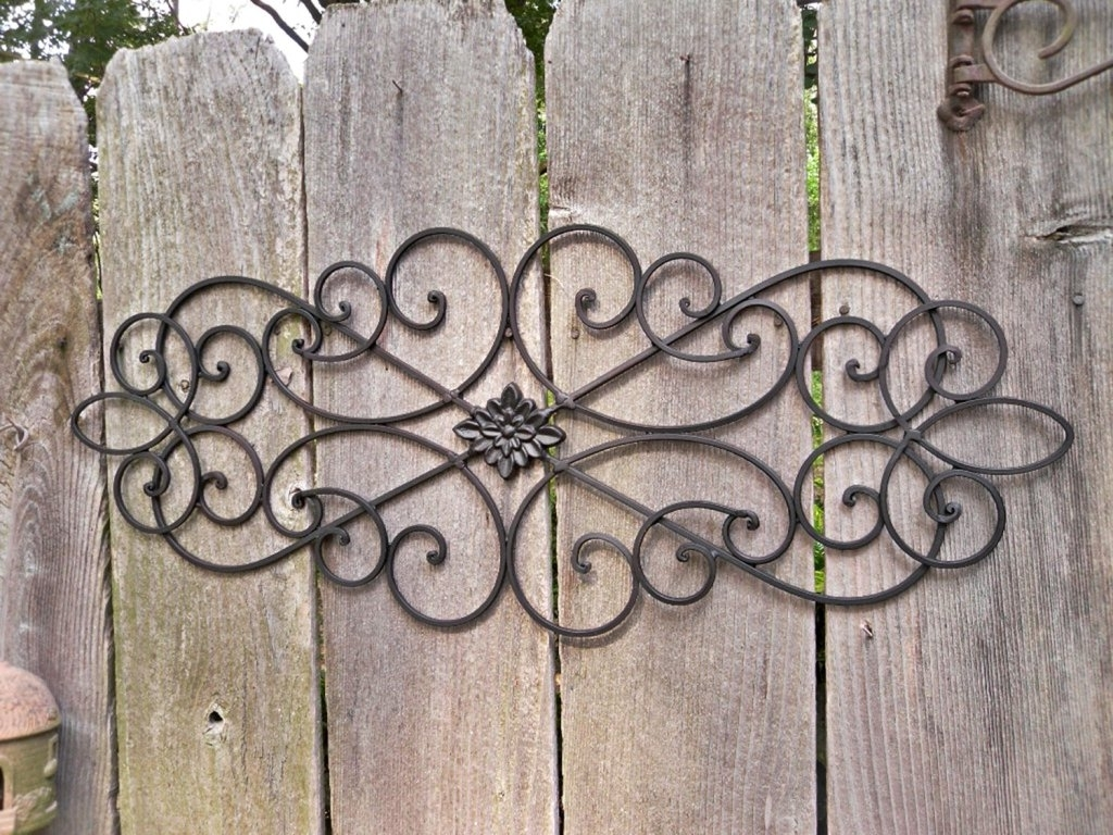 Popular How To Outdoor Metal Wall Decor Drilling Holes In The Siding Regarding Iron Wall Art (View 5 of 15)