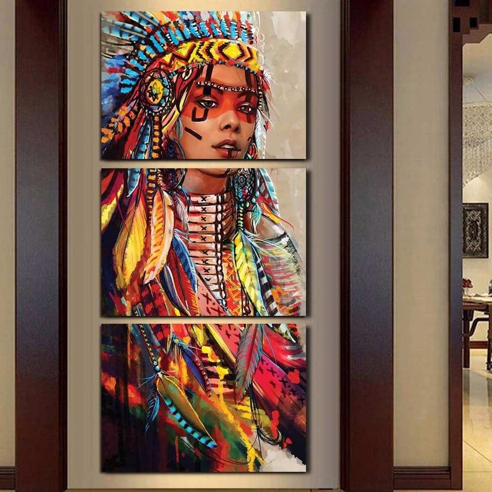 Popular Large Native American Wall Art : Andrews Living Arts – Beautiful For Native American Wall Art (View 13 of 15)