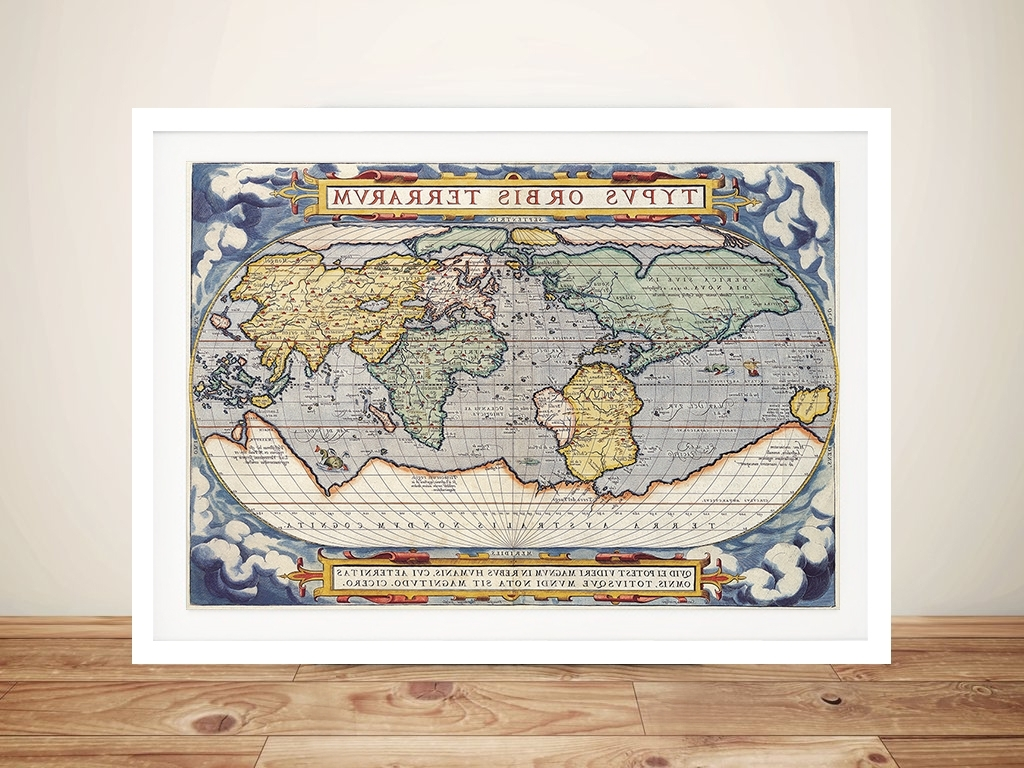 Popular Latin Old World Map Canvas Wall Art Print Online Picture Poster Art Intended For Old World Map Wall Art (View 13 of 15)