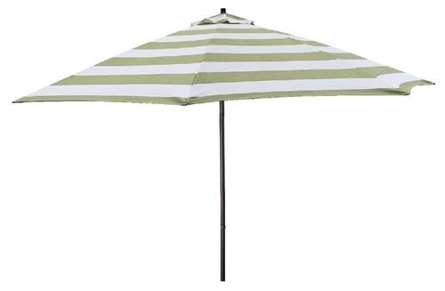 Popular Lauren & Company 9' Green Stripe Aluminum Patio Umbrella With Grey Patio Umbrellas (View 9 of 15)