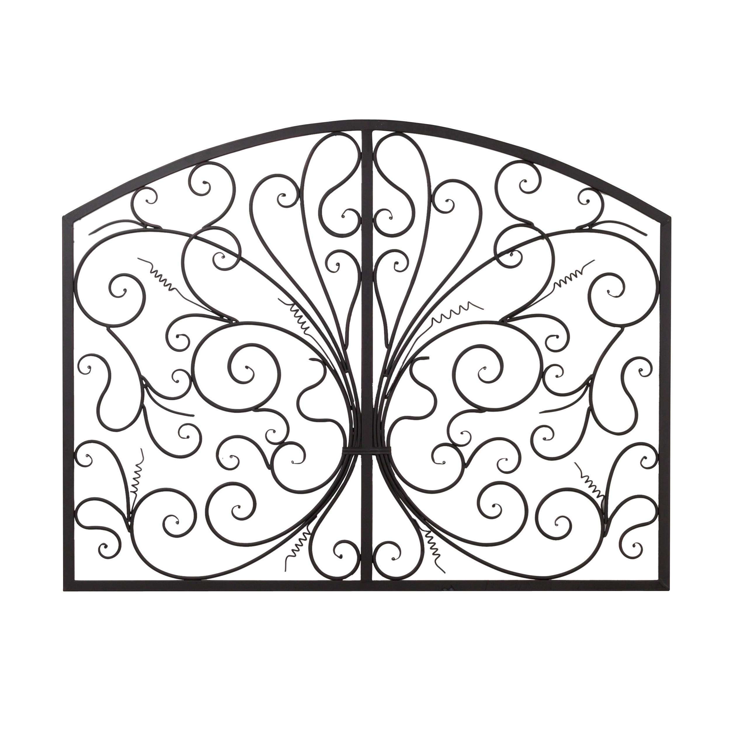 Popular Metal Scroll Wall Art Intended For Bayaccents Metal Scroll Complex Panel Wall Decor & Reviews (View 9 of 15)
