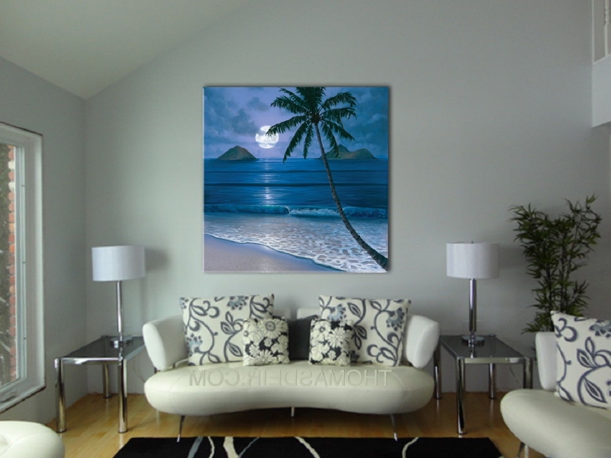 Popular Paintings For The Living Room Wall Hawaii Artist Best Color For In Living Room Painting Wall Art (View 13 of 15)