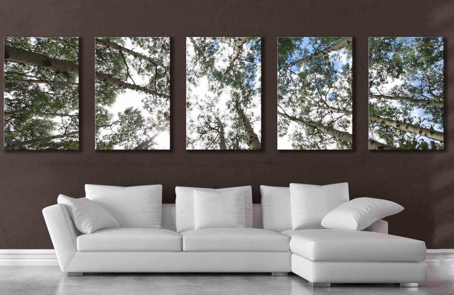Popular Panel Wall Art With Regard To Large 5 Panel Wall Art Aspen Tree Canvas Decor Five Multipiece (View 14 of 15)