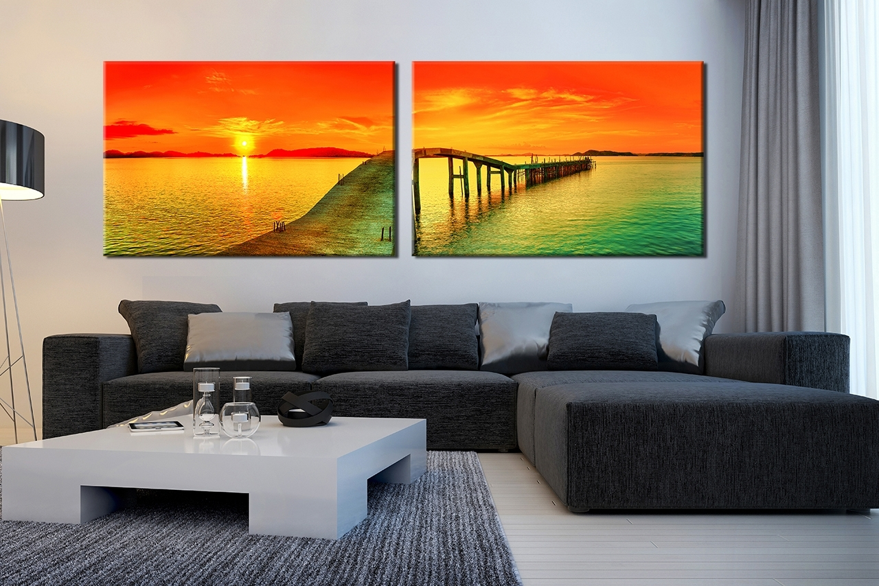 Popular Panoramic Wall Art With Regard To 2 Piece Panoramic Wall Art : Andrews Living Arts – Masculine (View 9 of 15)