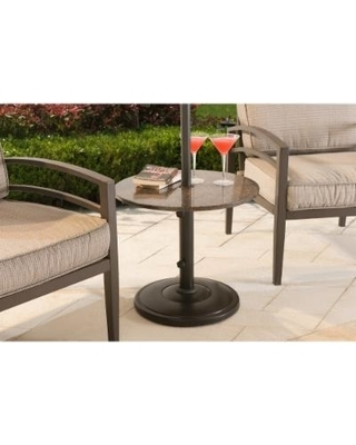 Popular Patio Umbrella Side Tables Within Patio Umbrella Stand Side Table – Thepotong (View 12 of 15)