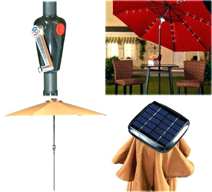 Popular Patio Umbrella Solar Powered Led Lights Rectangular Solar Powered In Solar Patio Umbrellas (View 10 of 15)