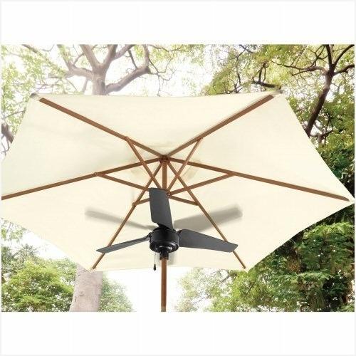 Popular Patio Umbrellas With Fans Regarding Outdoor Patio Umbrella Fan Good Quality » Elysee Magazine (View 11 of 15)