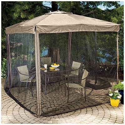 Popular Patio Umbrellas With Netting Inside Oversized Patio Umbrellas Patio Umbrella With Netting – Light Home (View 11 of 15)