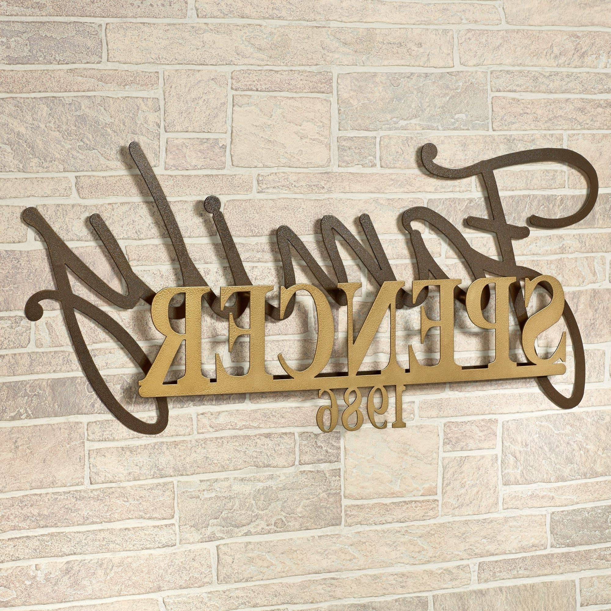 Popular Signature Established Year Personalized Metal Wall Art Sign With Family Metal Wall Art (View 2 of 15)
