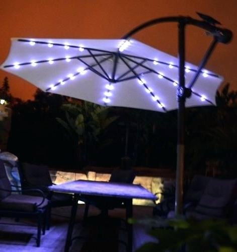 Popular Solar Powered Patio Umbrellas For Solar Powered Umbrella Light – Buyglysonna (View 7 of 15)