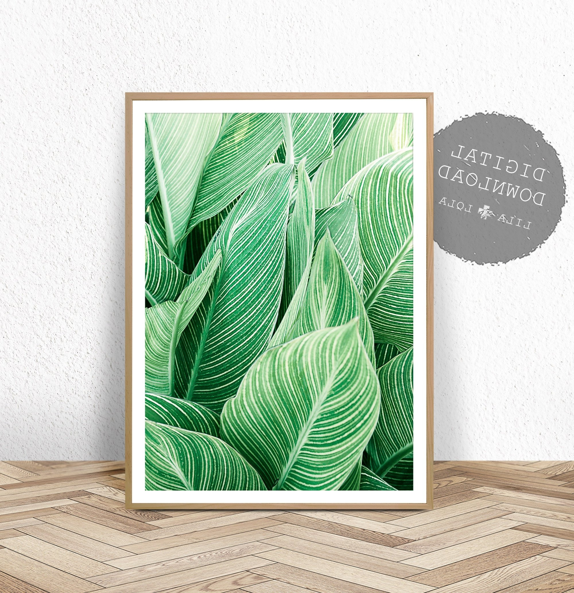 Popular Tropical Plant Wall Art, Leaf Print, Printable Digital Download Pertaining To Tropical Wall Art (View 10 of 15)