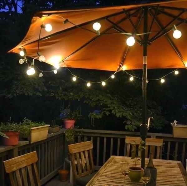 Popular Umbrella With Lights Patio Umbrellas With Lights Patio Umbrella In Patio Umbrellas With Solar Lights (View 10 of 15)