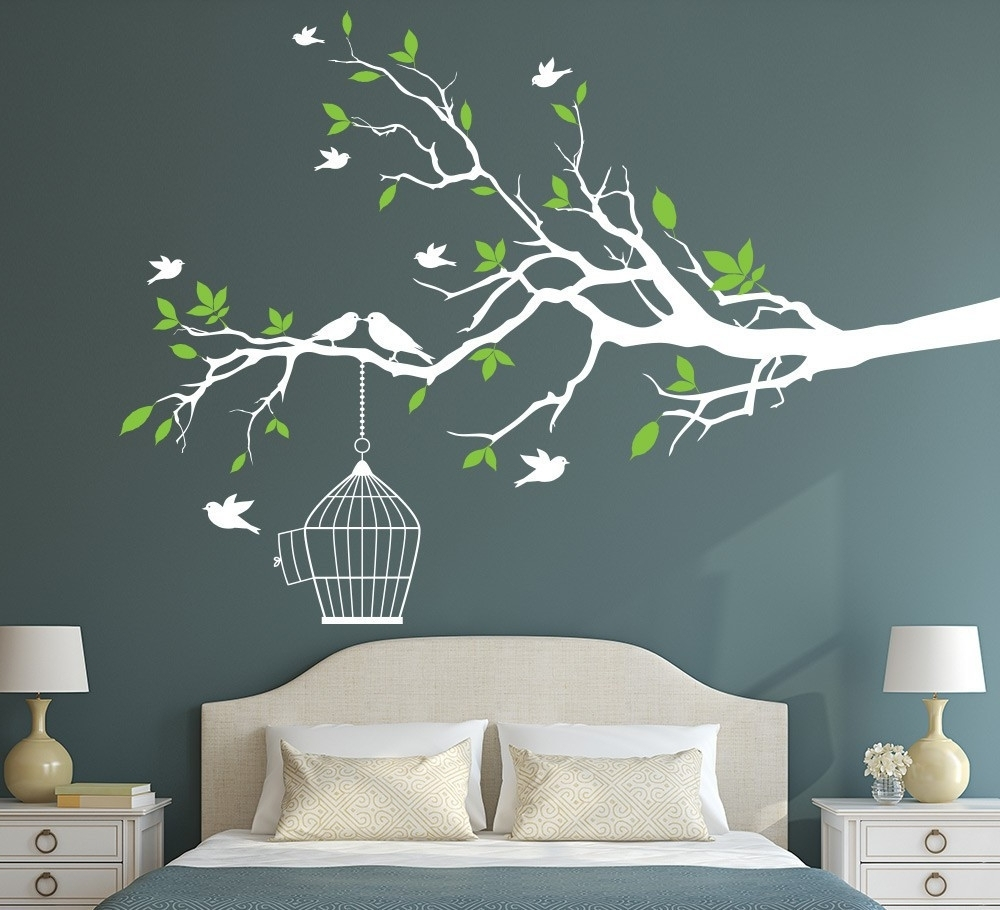 Popular Wall Art Stickers Pertaining To Wall Art Stickers Uk Bedroom Home Friends Family Wall Sticker Scheme (View 8 of 15)