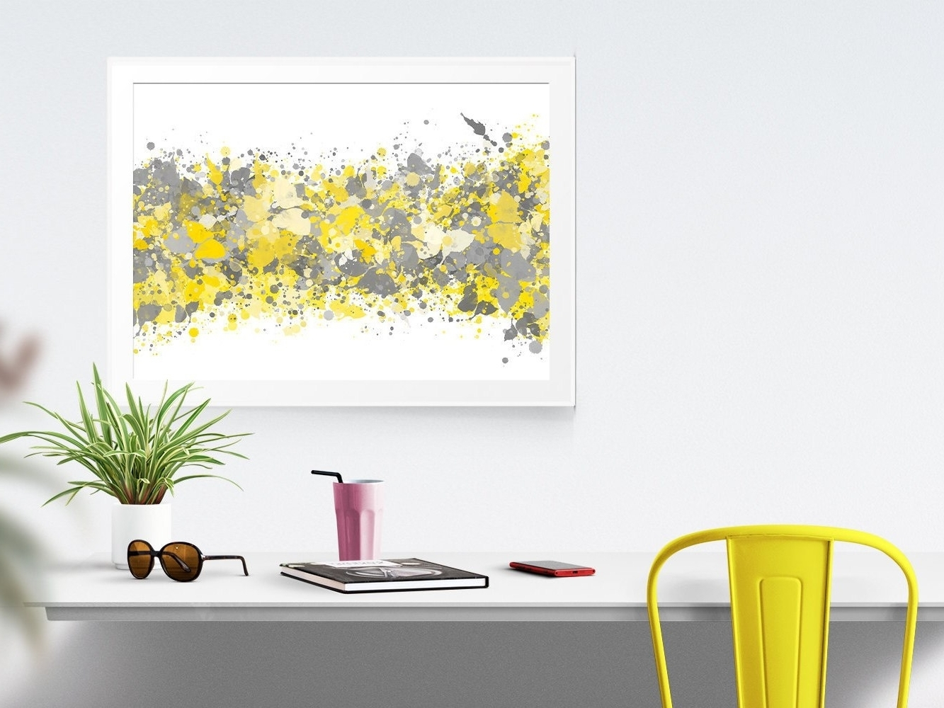 Popular Yellow And Grey Wall Art Intended For Mustard Yellow Wall Decor (View 14 of 15)