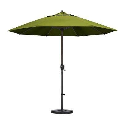 Popular Yellow Sunbrella Patio Umbrellas With 9 – Yellow – Market Umbrellas – Patio Umbrellas – The Home Depot (View 7 of 15)