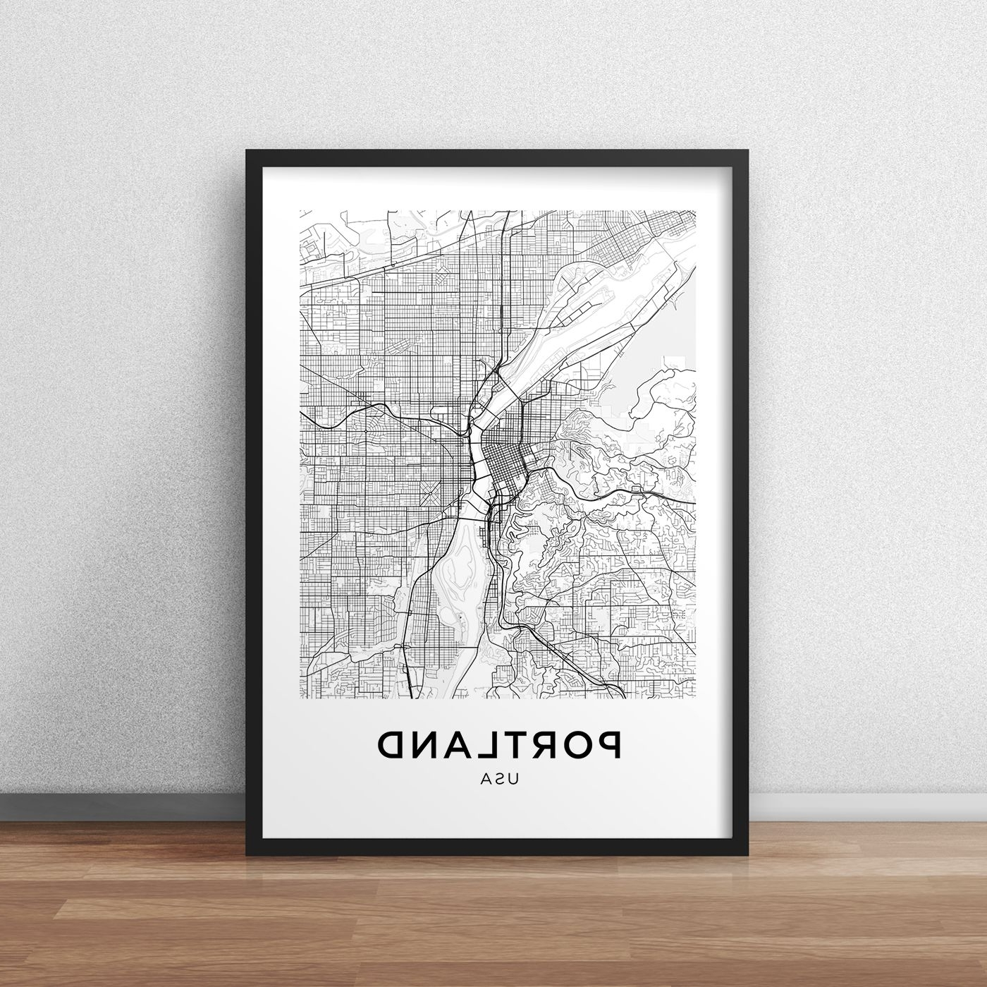 Featured Photo of Portland Map Wall Art