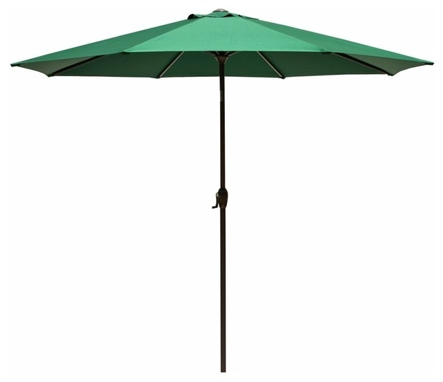 Preferred 9' Outdoor Premium Vented Patio Umbrella With Crank Open, Forest Regarding Vented Patio Umbrellas (View 7 of 15)