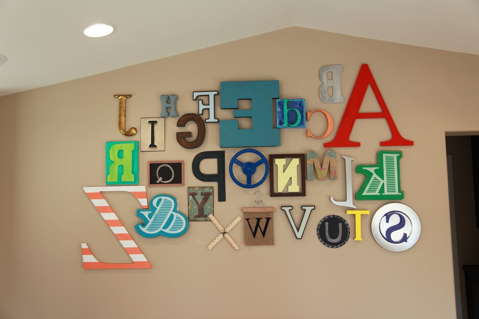 Preferred Abc Alphabet Wall • Color Made Happy Inside Alphabet Wall Art (View 3 of 15)