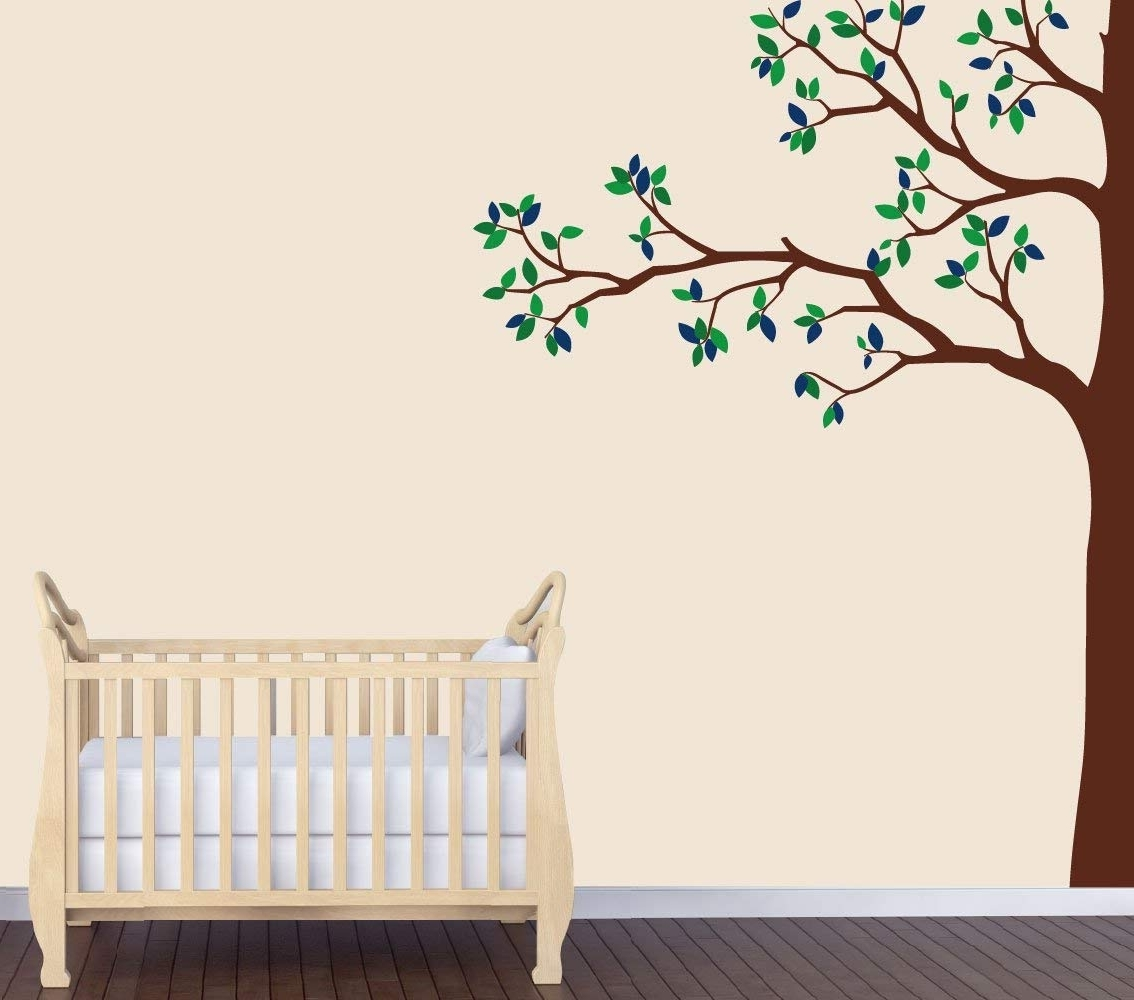 Preferred Amazon : Babys Nature Wall Decal, Blue Tree Wall Art, Babys Within Nature Wall Art (View 12 of 15)