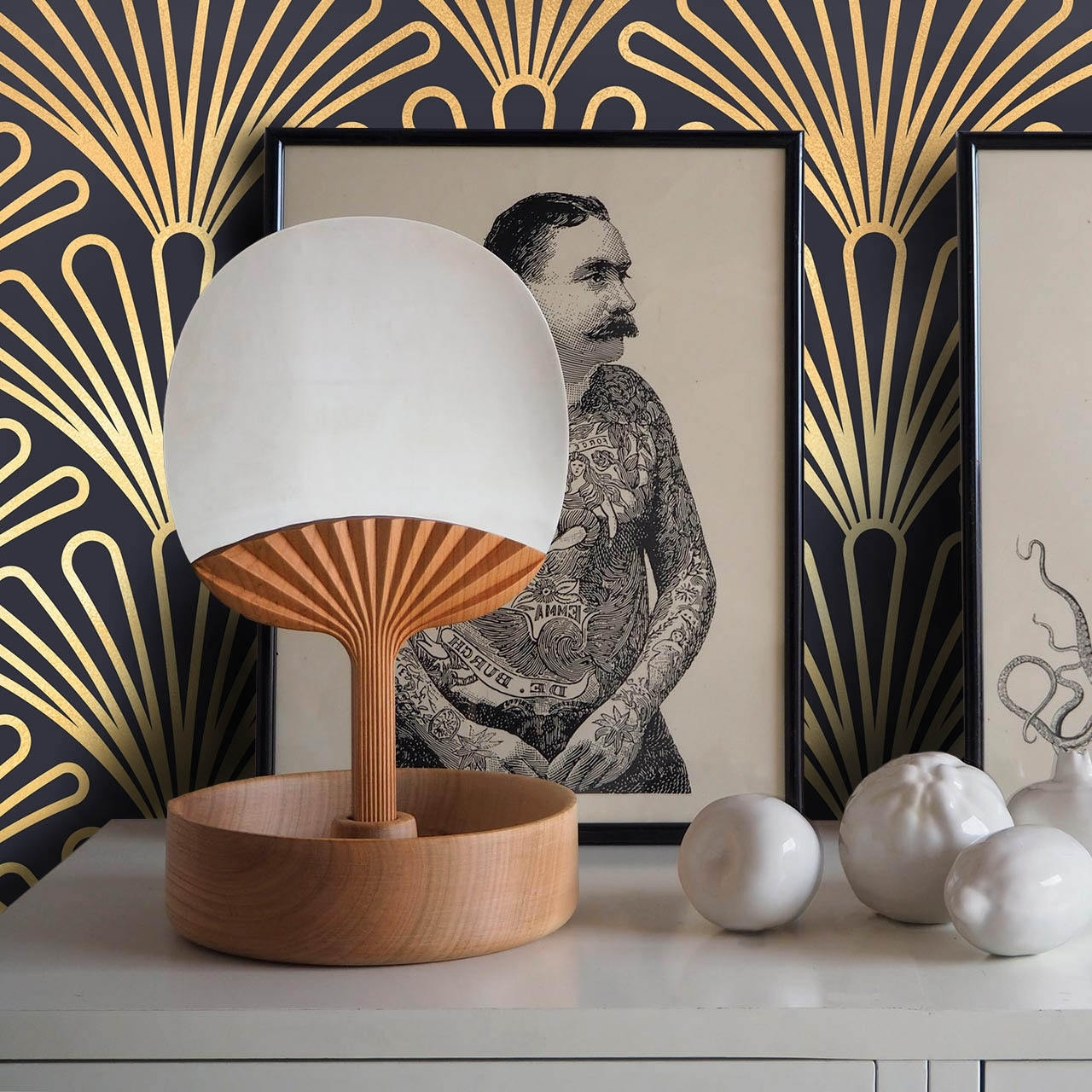 Preferred Art Deco Wall Art Pertaining To Art Deco Wallpaper, 1930S Vintage Wallpaper, Retro Wallpaper (View 11 of 15)