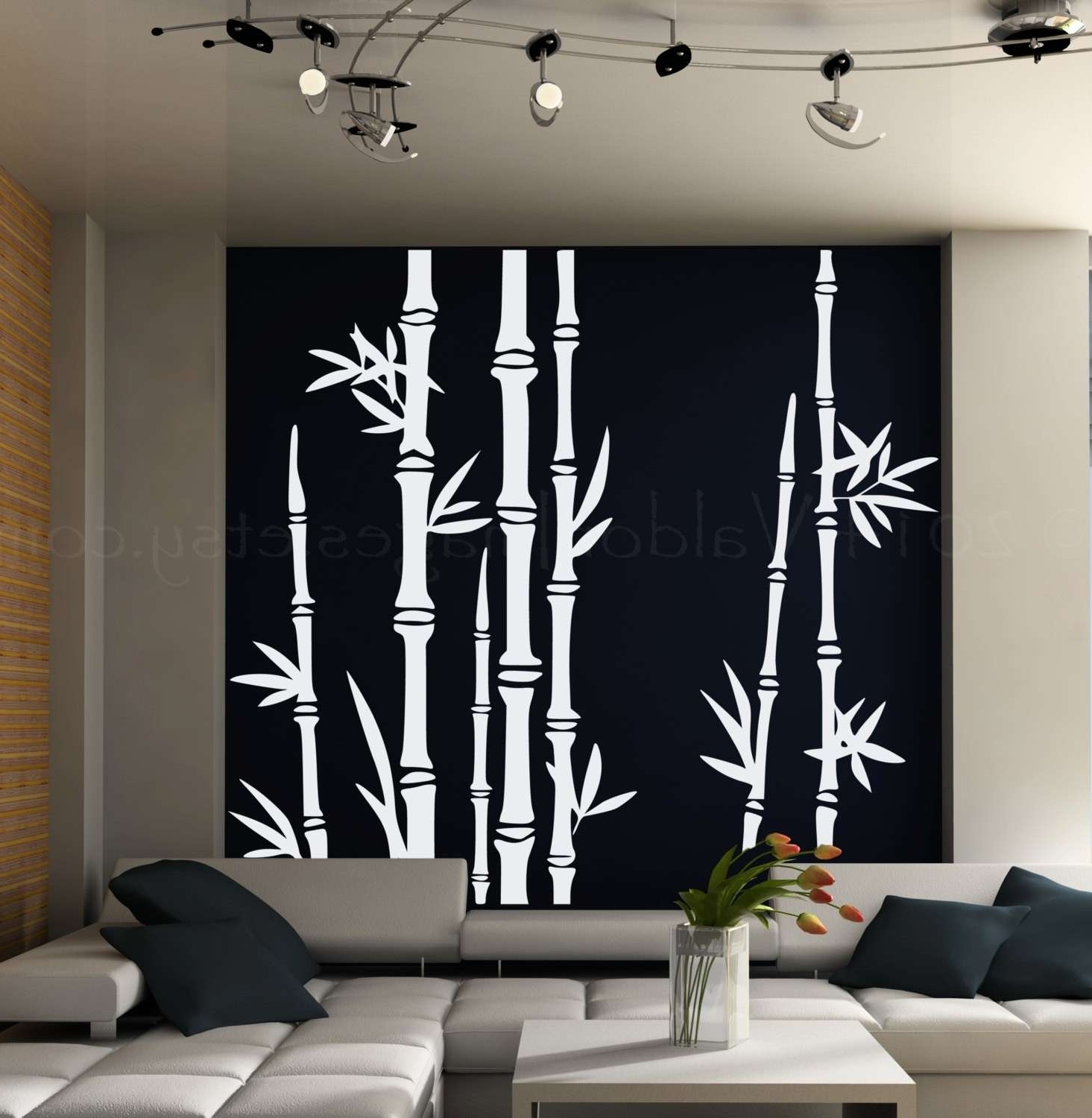 Preferred Bamboo Wall Art Intended For Bamboo Wall Art New Bamboo Wall Decal Asian Art Wall Stickers Lush (View 13 of 15)