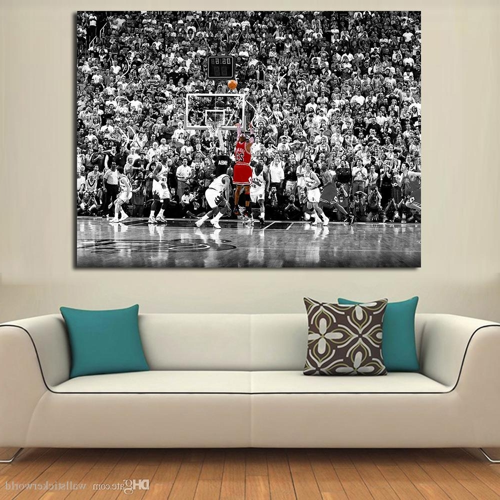 Preferred Basketball Wall Art In 2018 Wall Pictures For Living Room Basketball Games Painting Canvas (View 7 of 15)