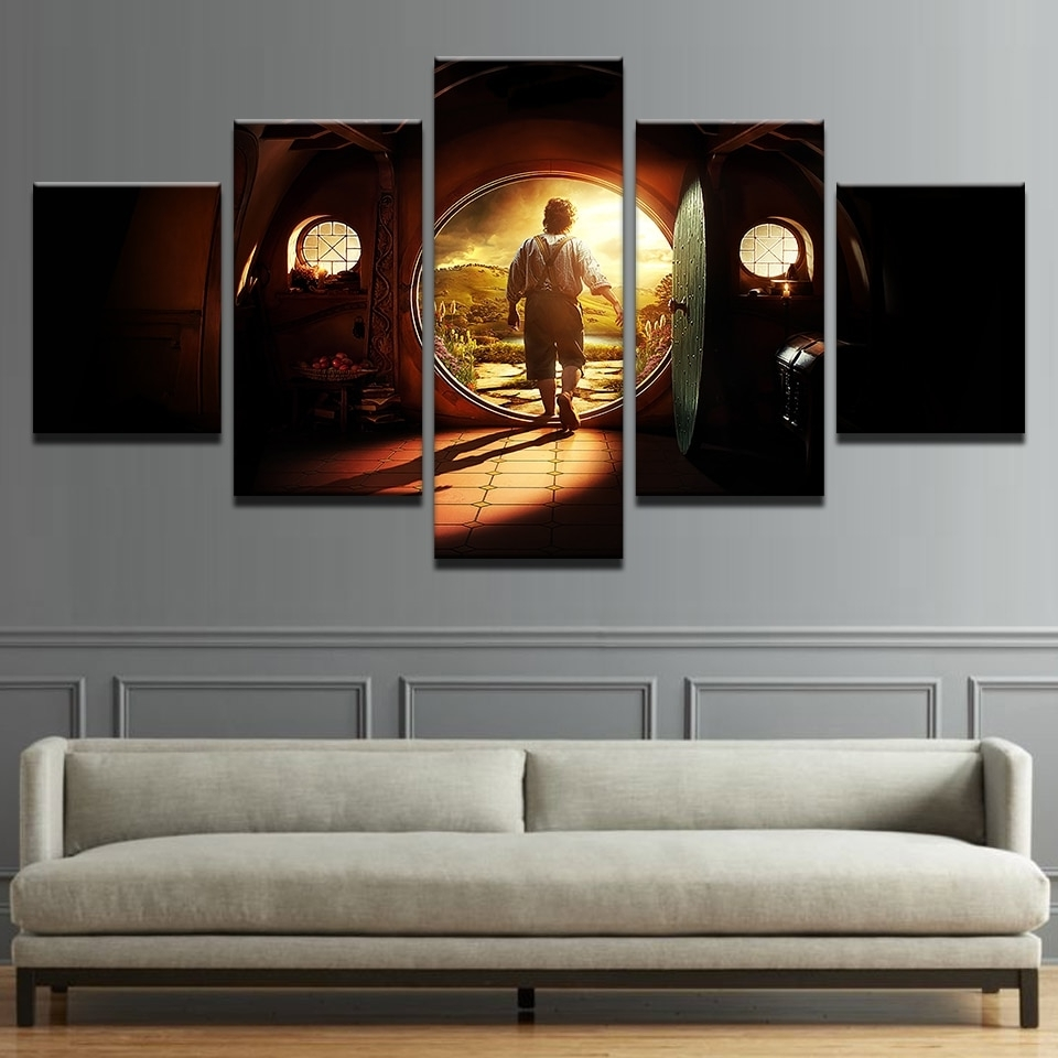 Preferred Canvas Pictures Home Decor Wall Art 5 Pieces Lord Of The Rings With Regard To Lord Of The Rings Wall Art (View 13 of 15)