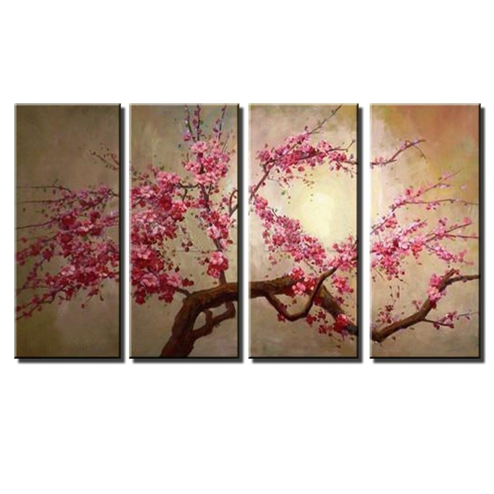 Preferred Chinese Wall Art Regarding 2018 Chinese Landscape Canvas Wall Art Handmade Abstract Decorative (View 10 of 15)