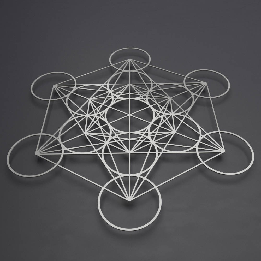 Preferred Contemporary Metal Wall Art Throughout Metatron's Cube Metal Wall Art, Sacred Geometry Decor, Large Metal (View 4 of 15)
