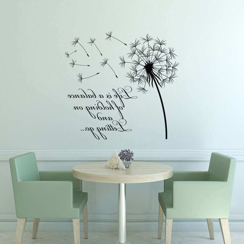 Preferred Dandelion Wall Art With Regard To Dandelion Wall Art Awesome Dandelion Wall Decal Quote Life Is A (View 13 of 15)