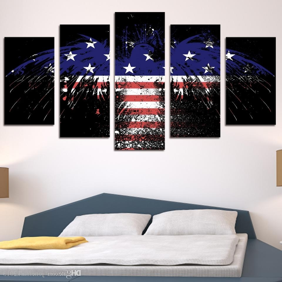 Preferred Discount Framed Hd Printed American Flag Eagle Wall Art Poster With Regard To Discount Wall Art (View 10 of 15)