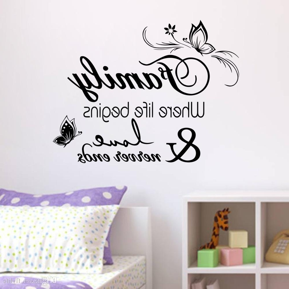 Preferred Family Vinyl Wall Quote Decal Stickers For Home Decor Wall Decal For With Regard To Home Decor Wall Art (View 9 of 15)