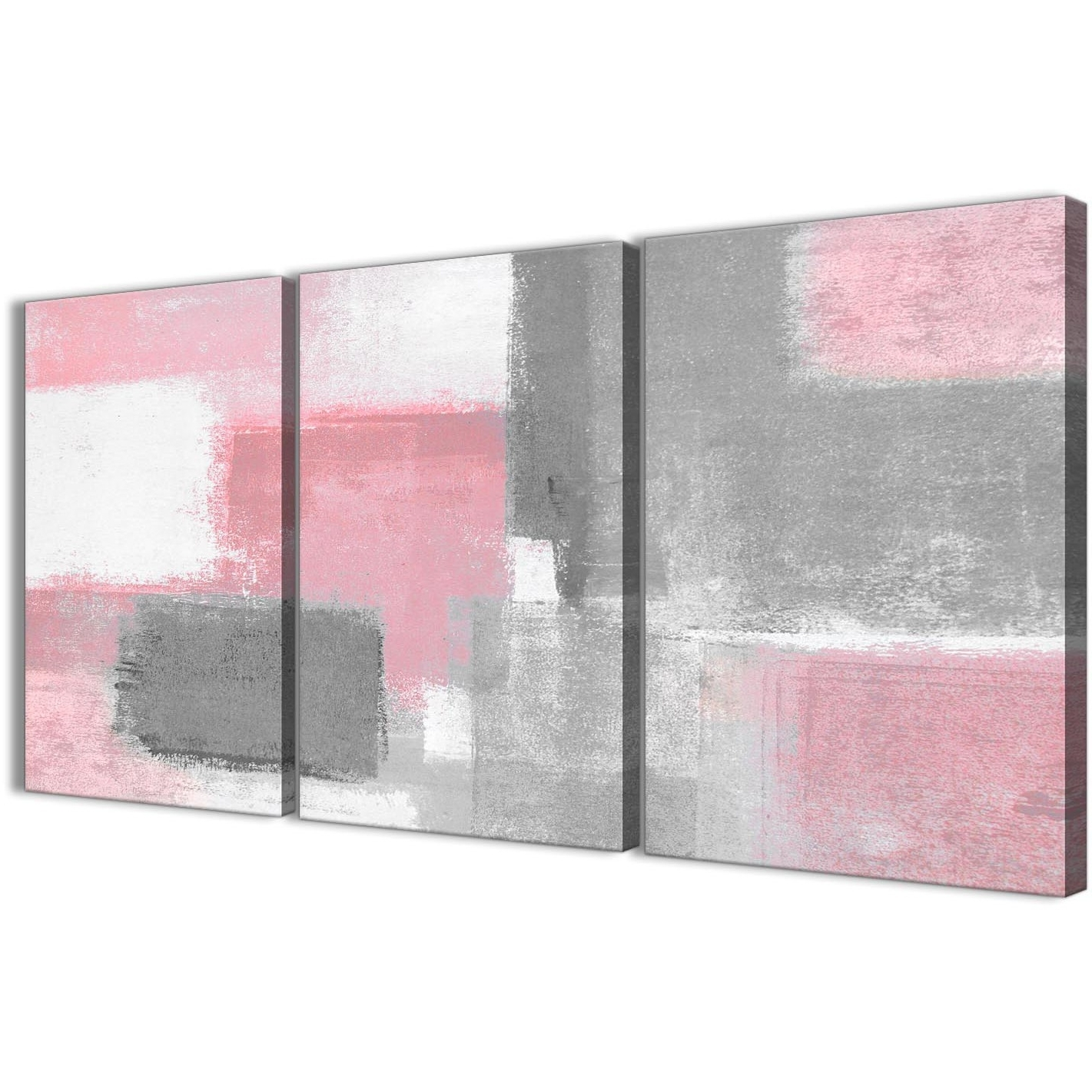 Preferred Gray Canvas Wall Art With 3 Piece Blush Pink Grey Painting Office Canvas Wall Art Decor (View 11 of 15)