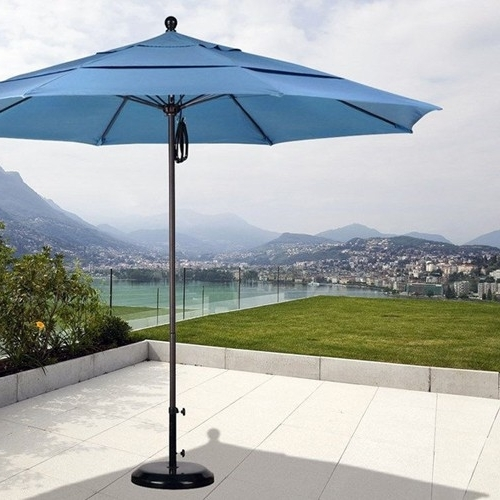 Preferred Grey Patio Umbrellas With Regard To Stunning Patio Umbrella 11 Ft 11 Sunbrella Patio Umbrellas Market (View 11 of 15)