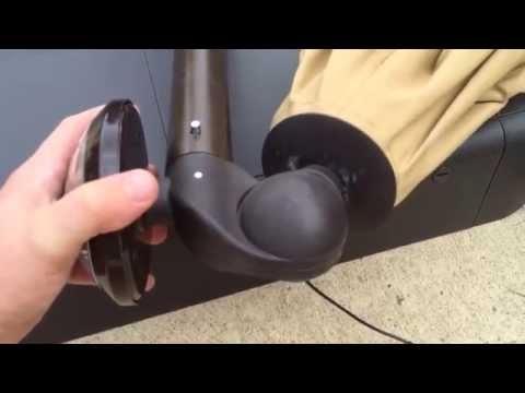Preferred Hampton Bay Offset Patio Umbrellas Throughout Hampton Bay Solar Umbrella – Youtube (View 5 of 15)
