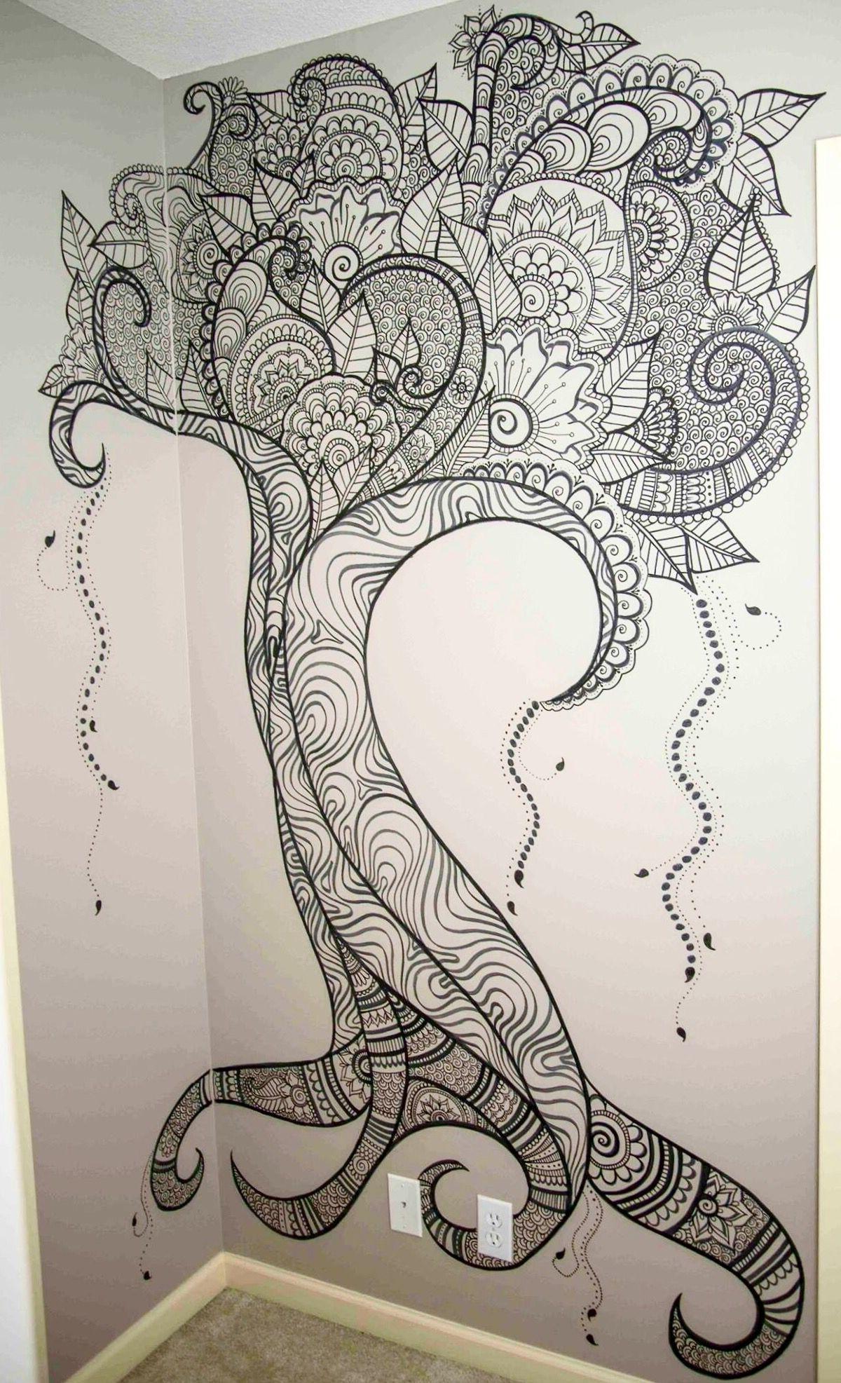 Preferred Henna Wall Art Within Henna Wall Artelsa Rhae (View 7 of 15)