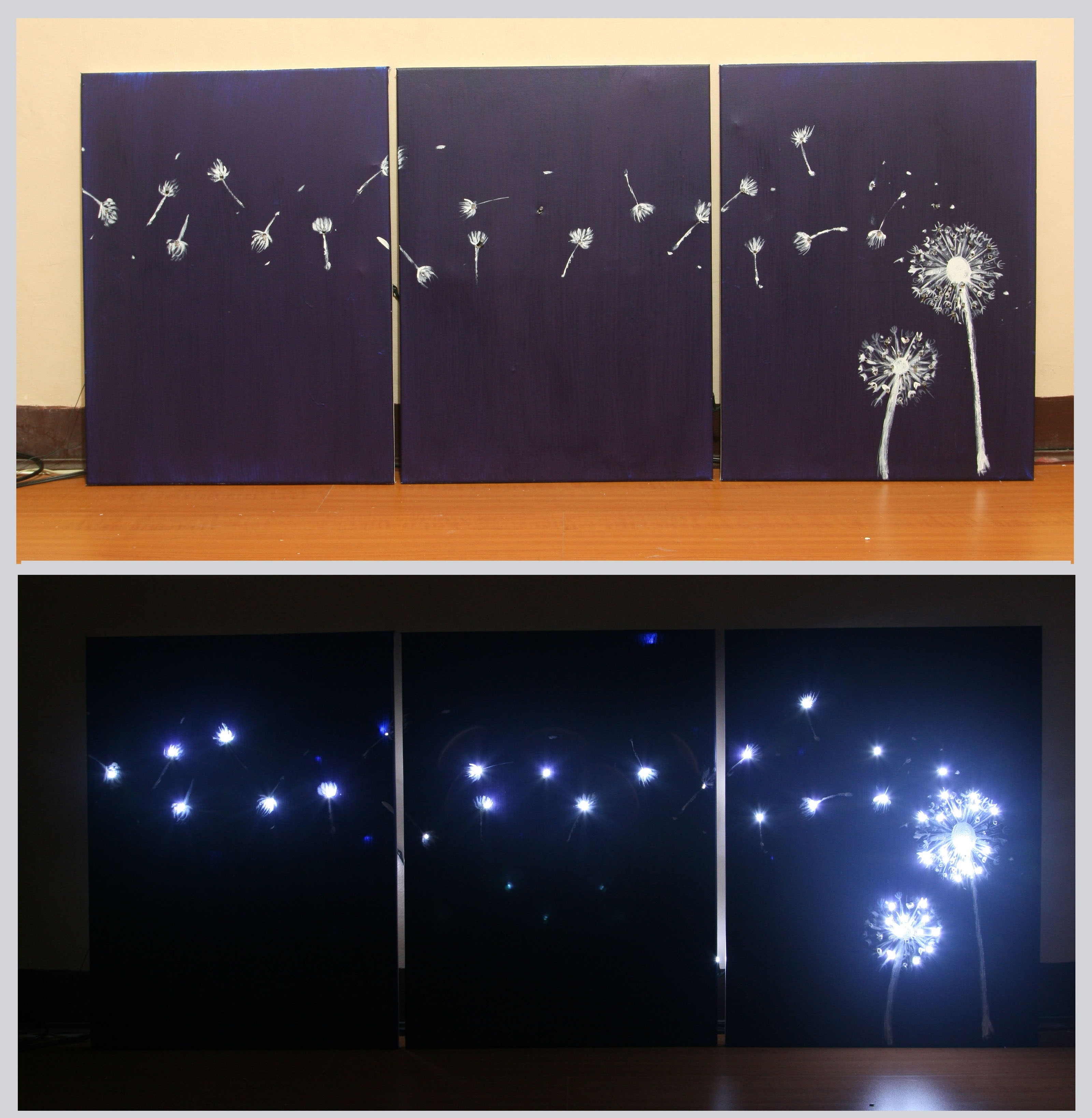 Preferred Lighted Wall Art Throughout 3 Ways To Design Three Panel, Light Up Dandelion Wall Art (View 10 of 15)